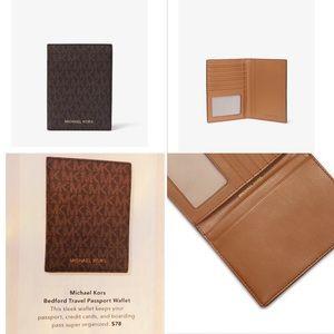 Michael Kors Bedford Travel Passport Wallet NWOT
